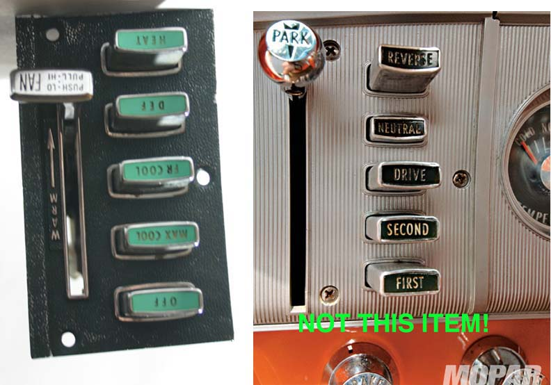 Cheapest Shipping Options >> Chrysler Air control heat heater AC switch 1963 1964 | eBay